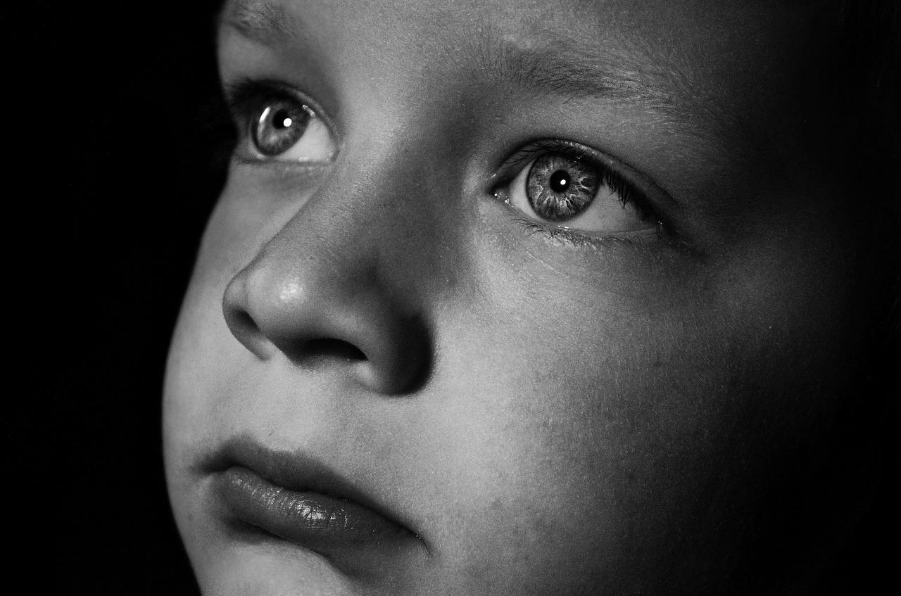 ogen, verdrietig, alleen
