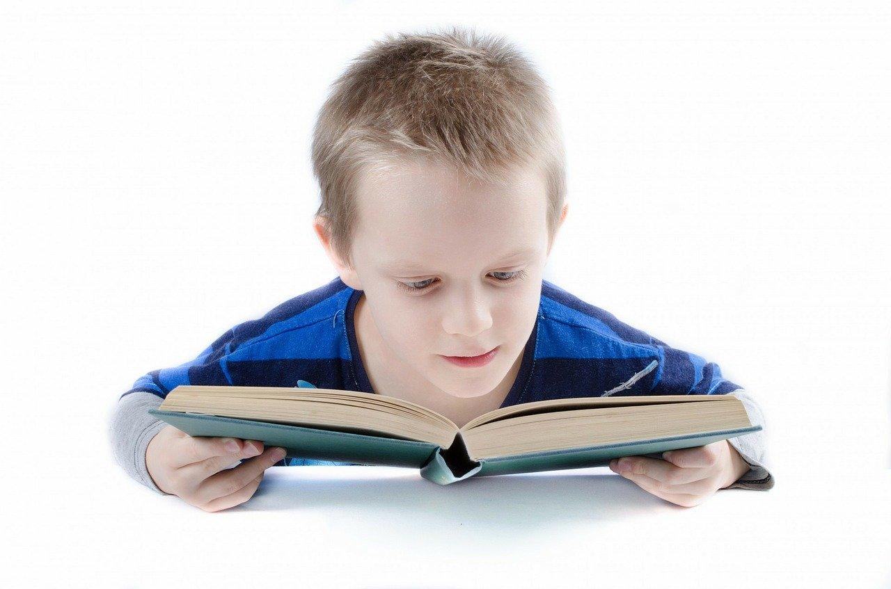 jongen leest