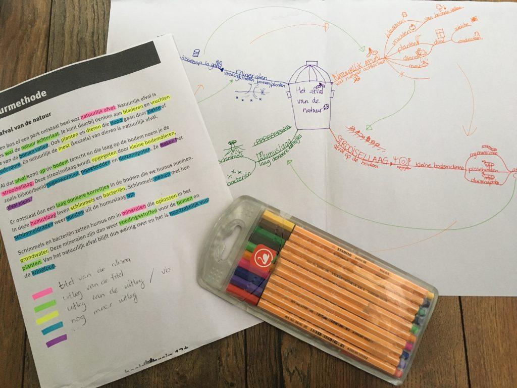 De leren Leren Methode, een tekst analyseren en vervolgens in een conceptmap maken, waarbij je beide hersenhelften actief betrek met als gevolg: beter, makkelijker en sneller leren!