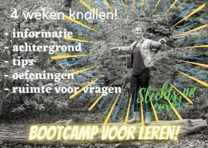 Bootcamp voor leren; 4 weken lang aan de slag met oefeningen en vooral ook begrijpen waarom deze zo helpend zijn voor het leren!