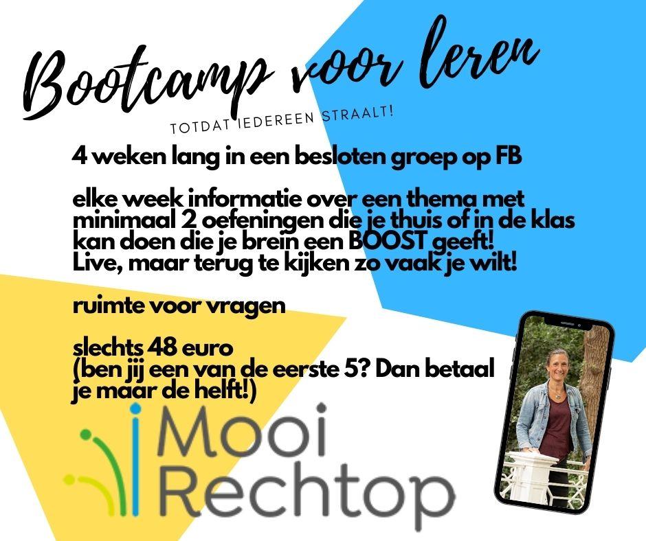 Bootcamp voor leren; anders bezig zijn om het leren te stimuleren!